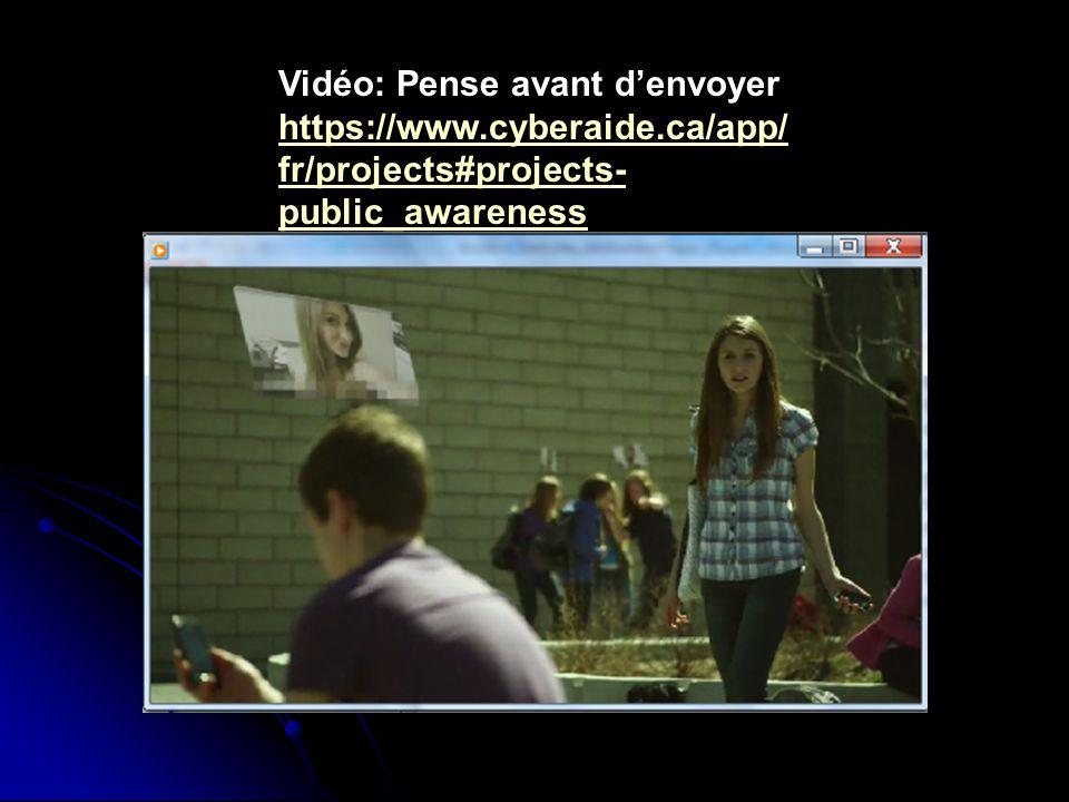 Vidéo: Pense avant d'envoyer https://www.cyberaide.ca/app/ fr/projects#projects- public_awareness