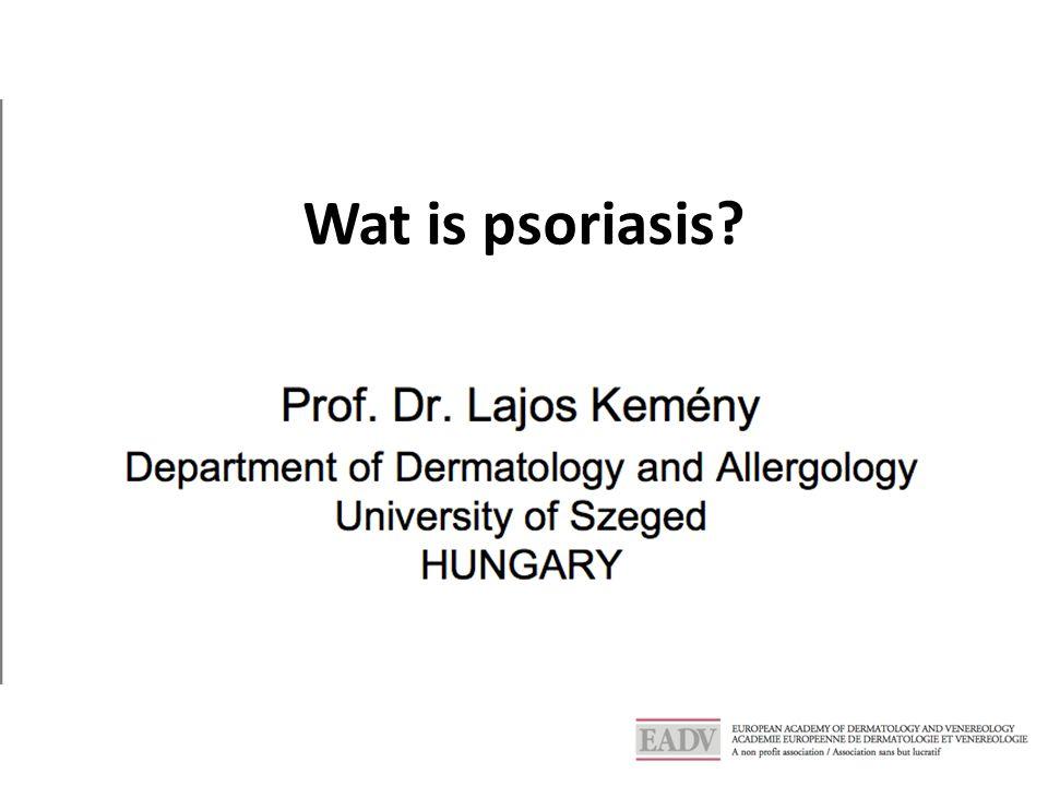 Wat is psoriasis