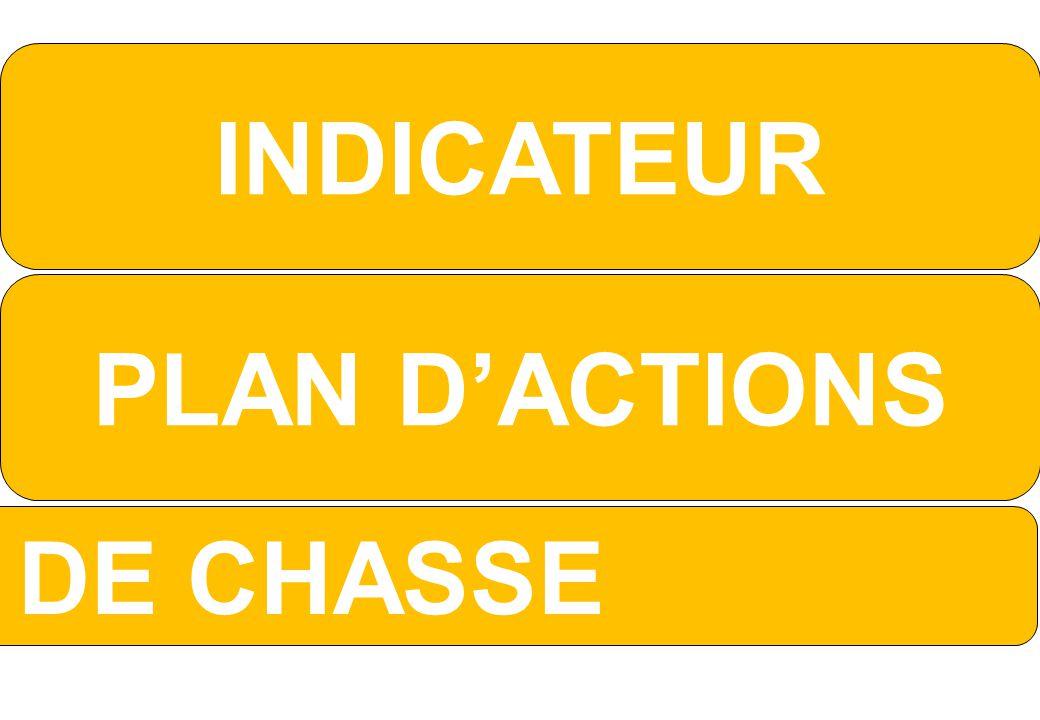 PLAN D'ACTIONS INDICATEUR TABLEAU DE CHASSE