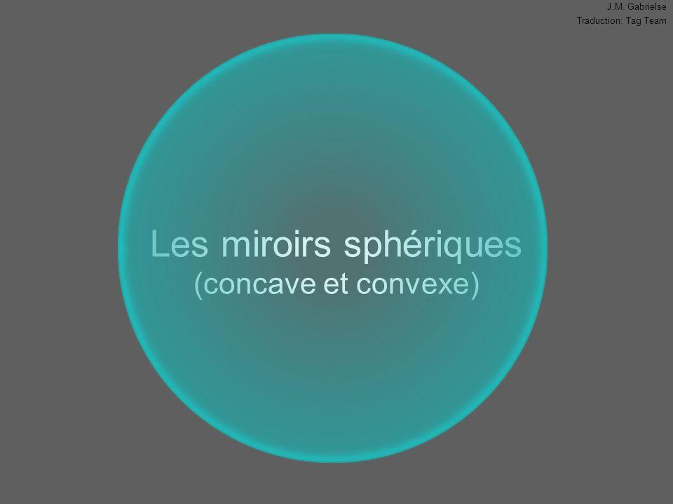 J.M. Gabrielse Traduction: Tag Team Les miroirs sphériques (concave et convexe)