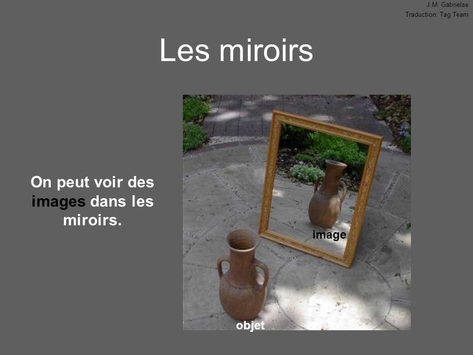 J.M. Gabrielse Traduction: Tag Team Les miroirs objet image On peut voir des images dans les miroirs.