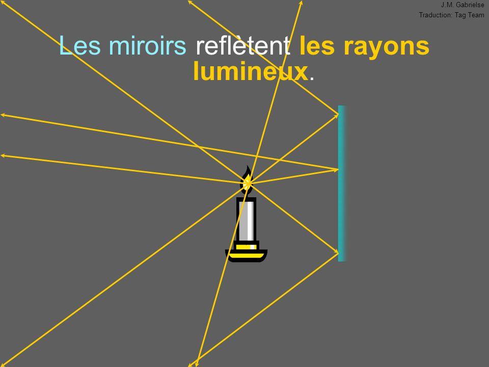 J.M. Gabrielse Traduction: Tag Team Les miroirs reflètent les rayons lumineux.