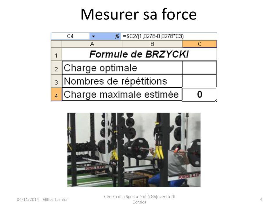 04/11/2014 - Gilles Tarnier Centru di u Sportu è di à Ghjuventù di Corsica 5 Exemple entraînement endurance force