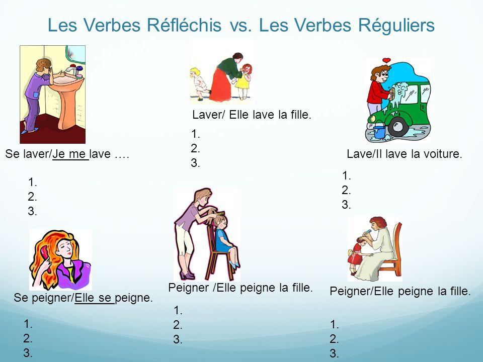 Les Verbes Réfléchis vs.Les Verbes Réguliers Se laver/Je me lave ….