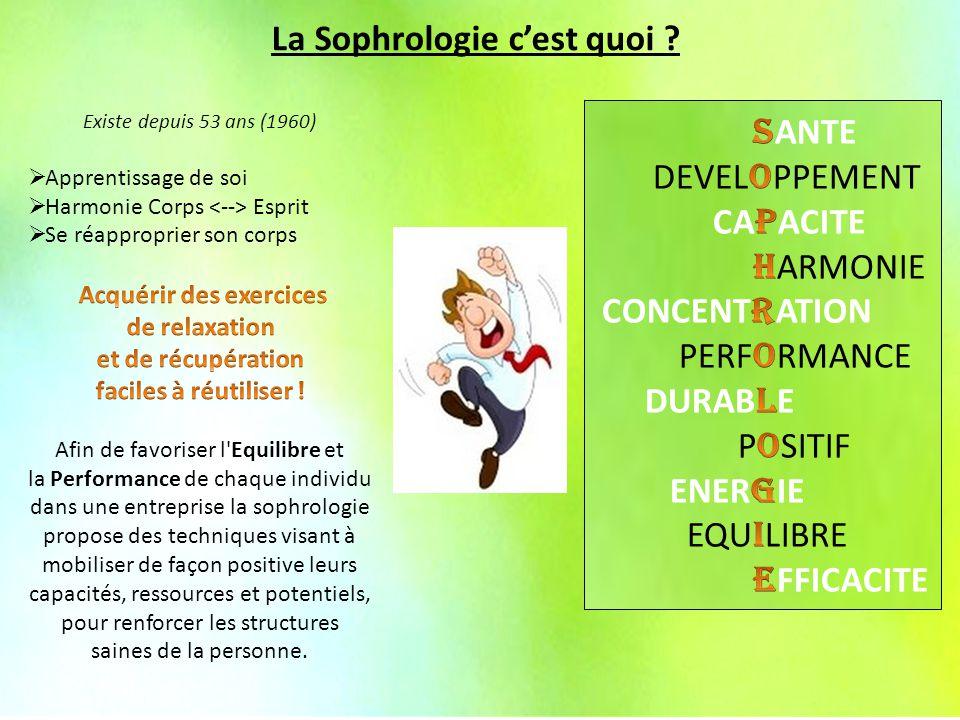 La Sophrologie en Entreprise La Sophrologie c'est quoi ?
