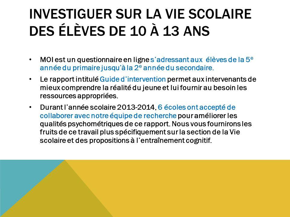 0-35 IL SERAIT IMPORTANT DE RENCONTRER CET ÉLÈVE ET DE POUSSER L'INVESTIGATION.