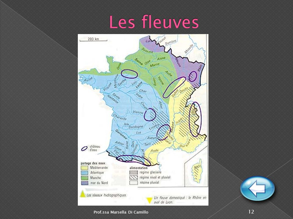 Prof.ssa Marsella Di Camillo 11 Ardennes Maures et Esterel Les monts de la Corse Le Sillon rhodanien La Camargue Plaine d'Alsace Rhin