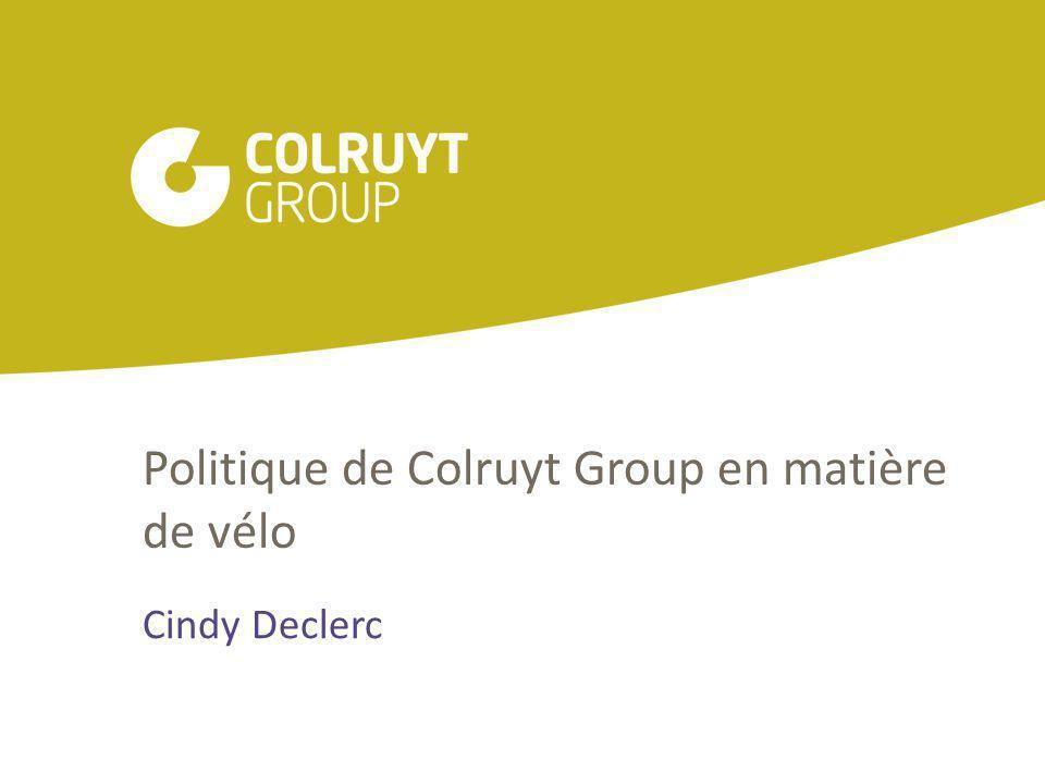 Politique de Colruyt Group en matière de vélo Cindy Declerc