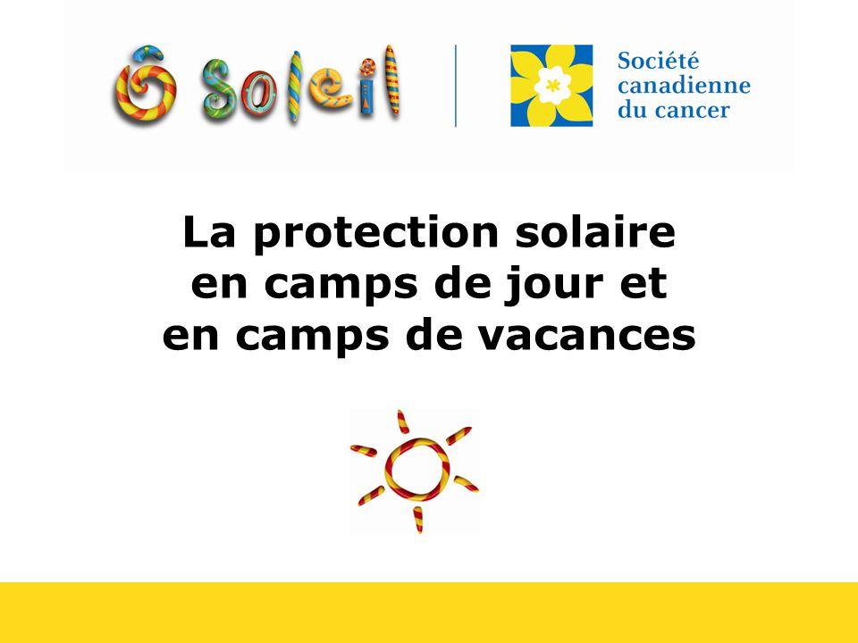 La protection solaire en camps de jour et en camps de vacances