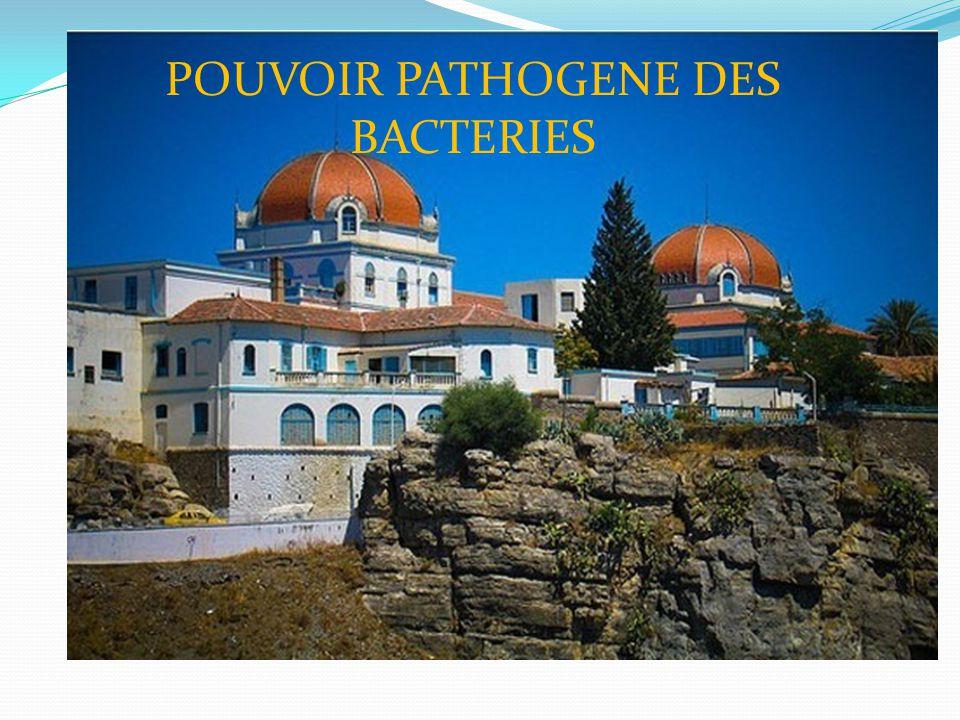POUVOIR PATHOGENE DES BACTERIES DR.