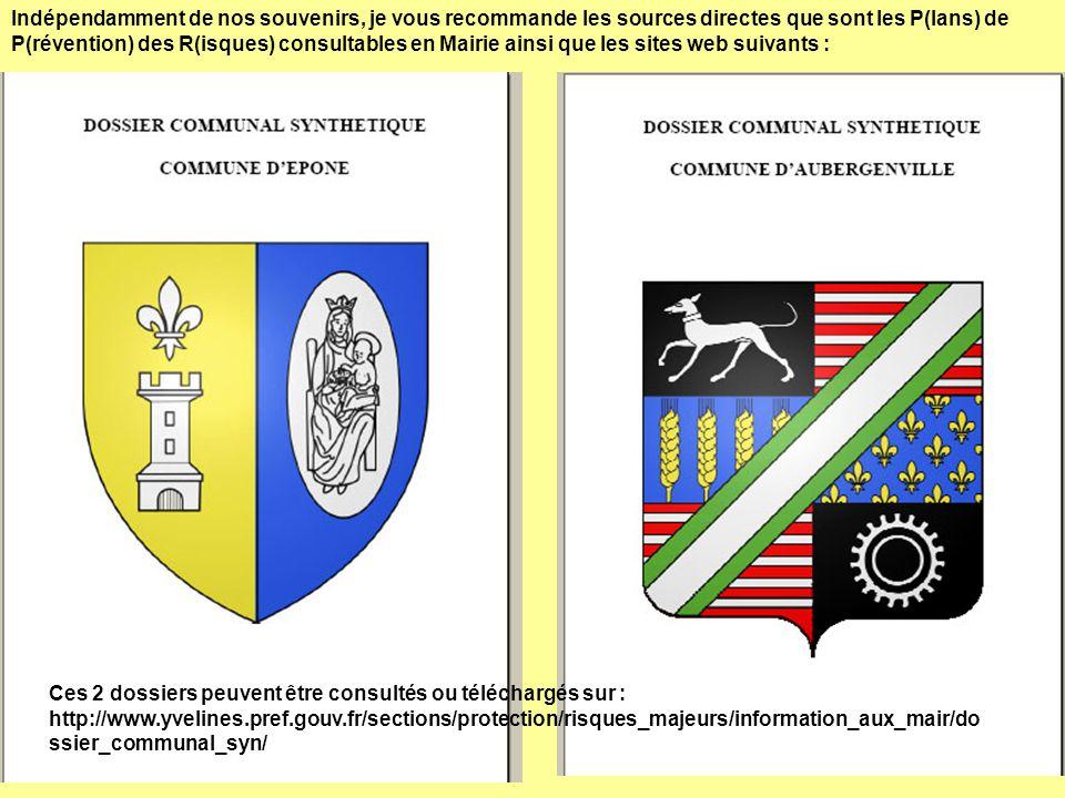 Ces 2 dossiers peuvent être consultés ou téléchargés sur : http://www.yvelines.pref.gouv.fr/sections/protection/risques_majeurs/information_aux_mair/d