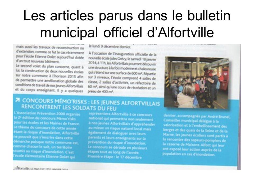 Les articles parus dans le bulletin municipal officiel d'Alfortville