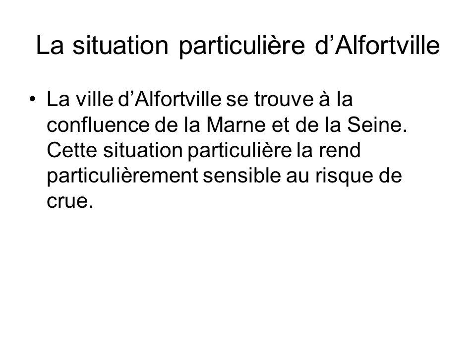 La situation particulière d'Alfortville La ville d'Alfortville se trouve à la confluence de la Marne et de la Seine. Cette situation particulière la r