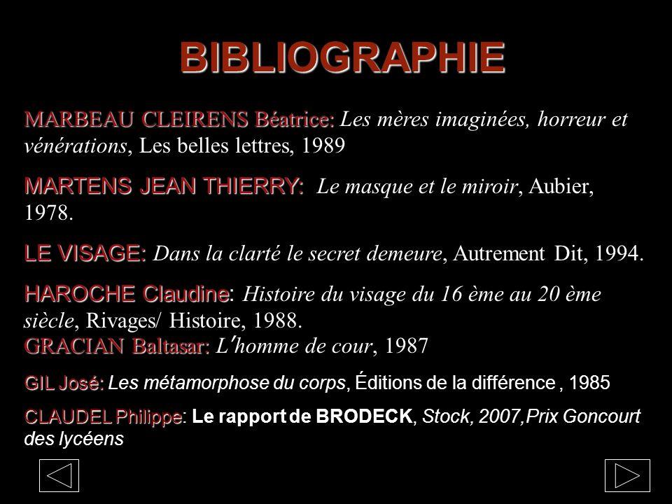 BIBLIOGRAPHIE MARBEAU CLEIRENS Béatrice: MARBEAU CLEIRENS Béatrice: Les mères imaginées, horreur et vénérations, Les belles lettres, 1989 MARTENS JEAN THIERRY: MARTENS JEAN THIERRY: Le masque et le miroir, Aubier, 1978.
