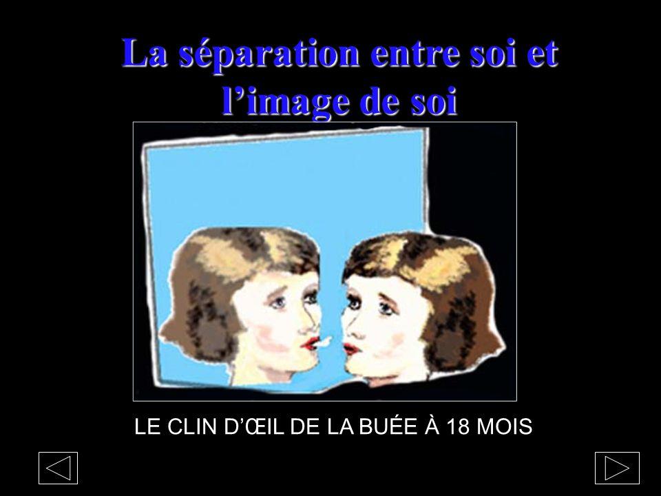 La séparation entre soi et l'image de soi LE CLIN D'ŒIL DE LA BUÉE À 18 MOIS
