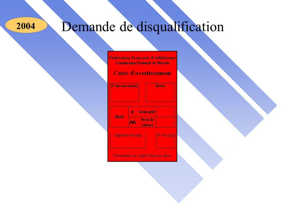 Demande de disqualification 2004
