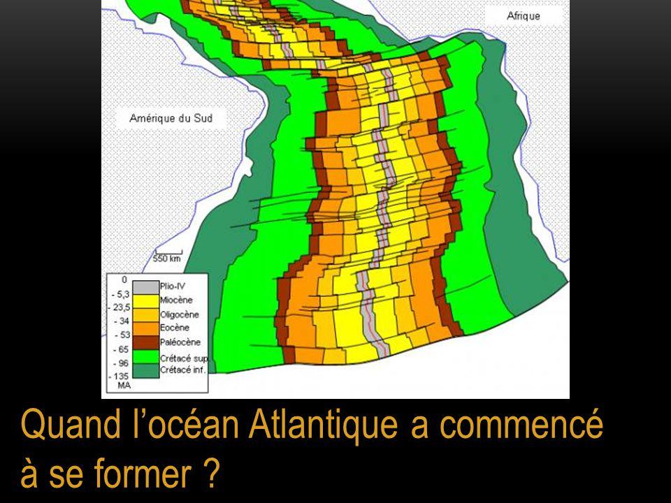 Quand l'océan Atlantique a commencé à se former ?