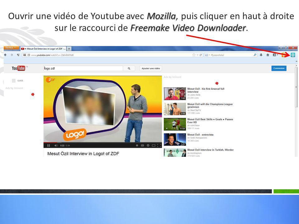 Freemake Video Downloader La vidéo apparaît aussitôt dans Freemake Video Downloader qui s'ouvre automatiquement.