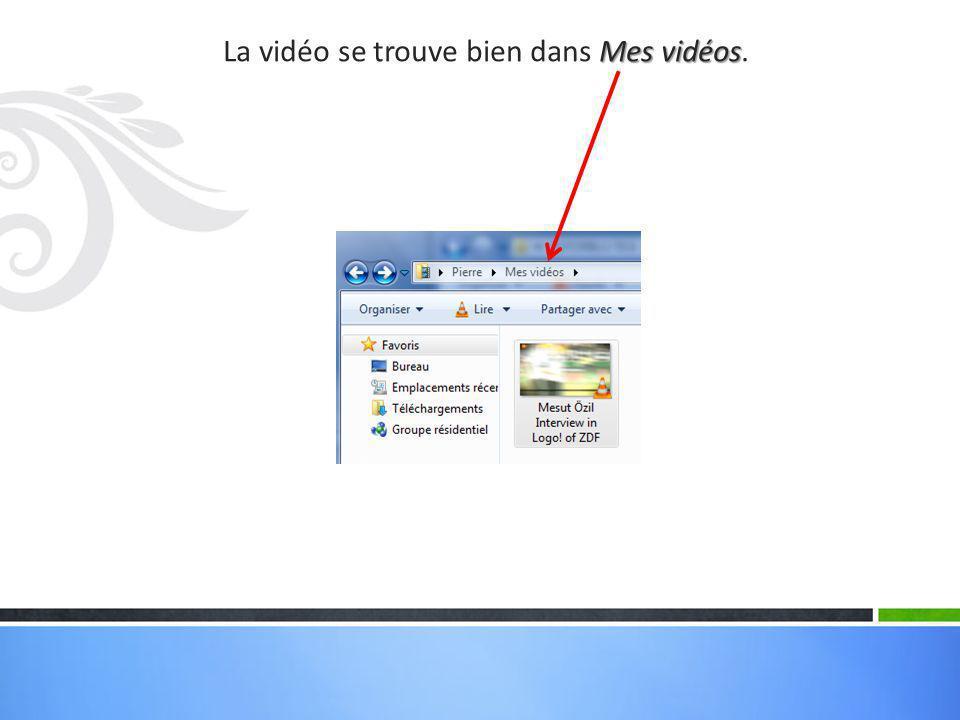 Mais il est aussi possible d'enregistrer uniquement le son de cette vidéo, c'est-à-dire de convertir la vidéo en fichier mp3.