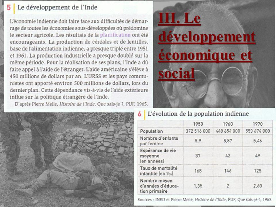III. Le développement économique et social