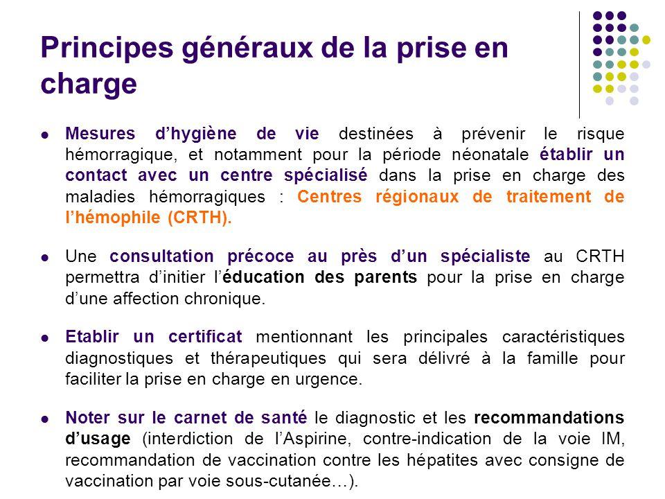 Principes généraux de la prise en charge Mesures d'hygiène de vie destinées à prévenir le risque hémorragique, et notamment pour la période néonatale