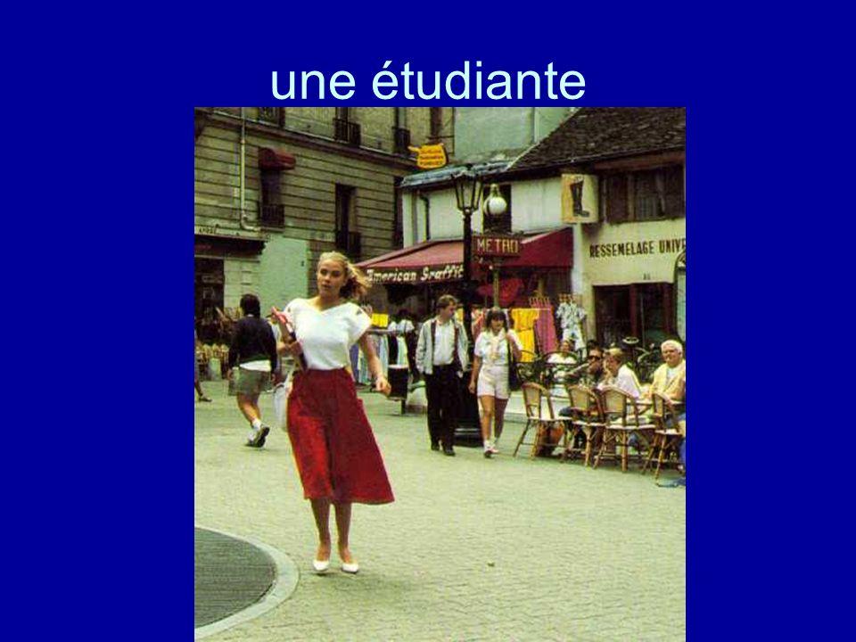une étudiante