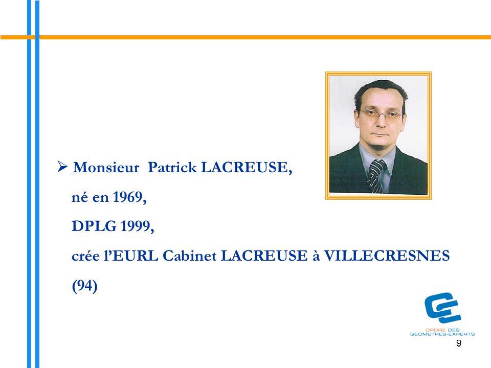 10  Monsieur Geoffroy ROBIN, né en 1977, ESGT 2003, rejoint la SELARL Jacques ROBIN et Associés à PUTEAUX (92)