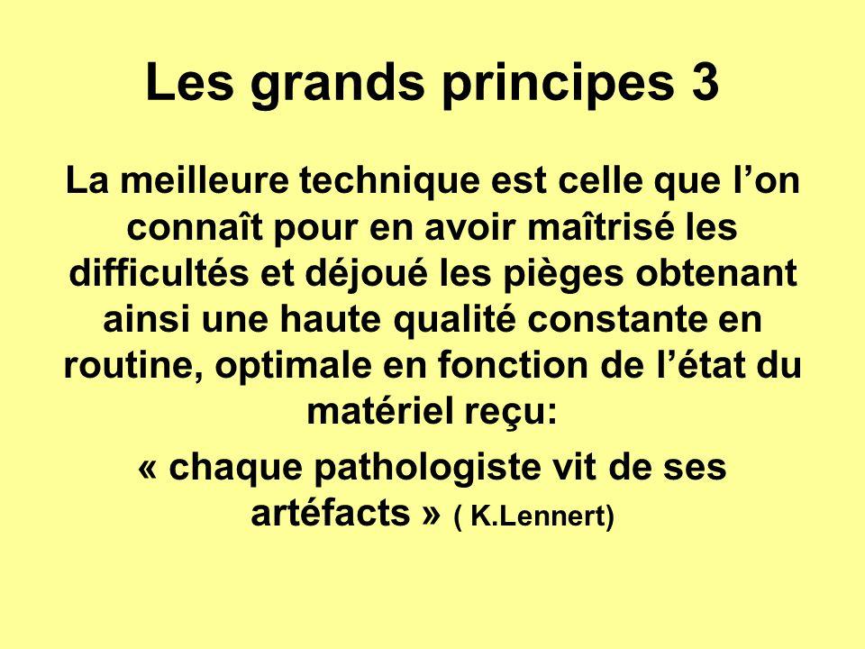 Les grands principes 3 La meilleure technique est celle que l'on connaît pour en avoir maîtrisé les difficultés et déjoué les pièges obtenant ainsi un