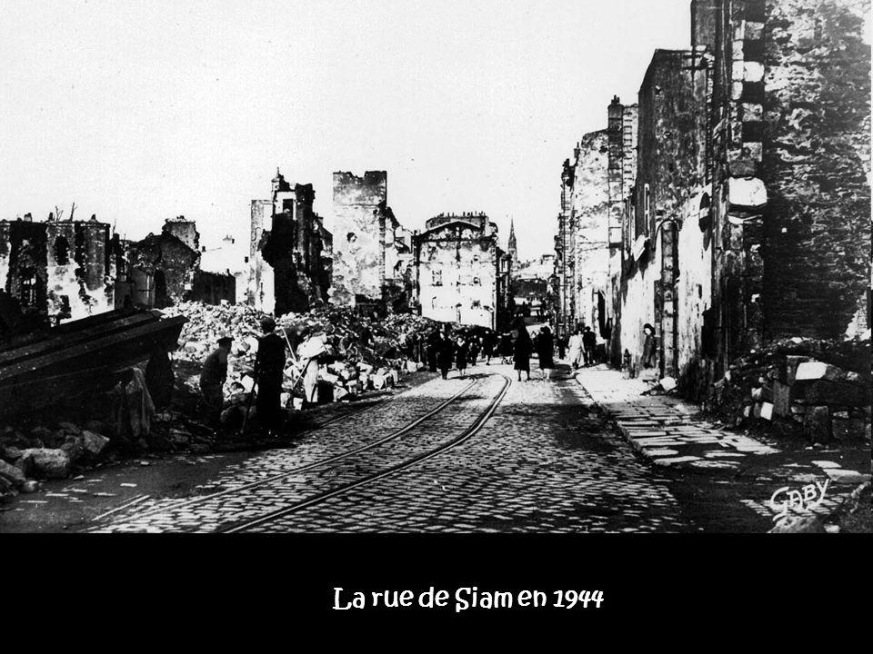 La rue de Siam en 1944