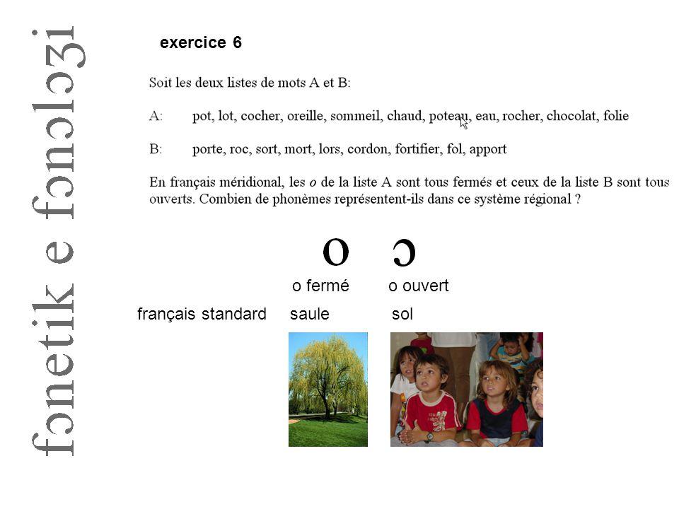 exercice 6 o ferméo ouvert saulefrançais standardsol