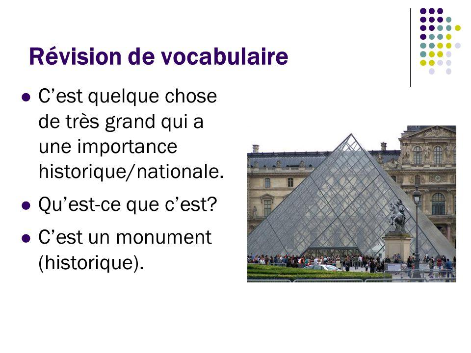 Révision de vocabulaire C'est un document qui vous donne permission d'entrer et puis de rester pour une certaine période dans un pays étranger.