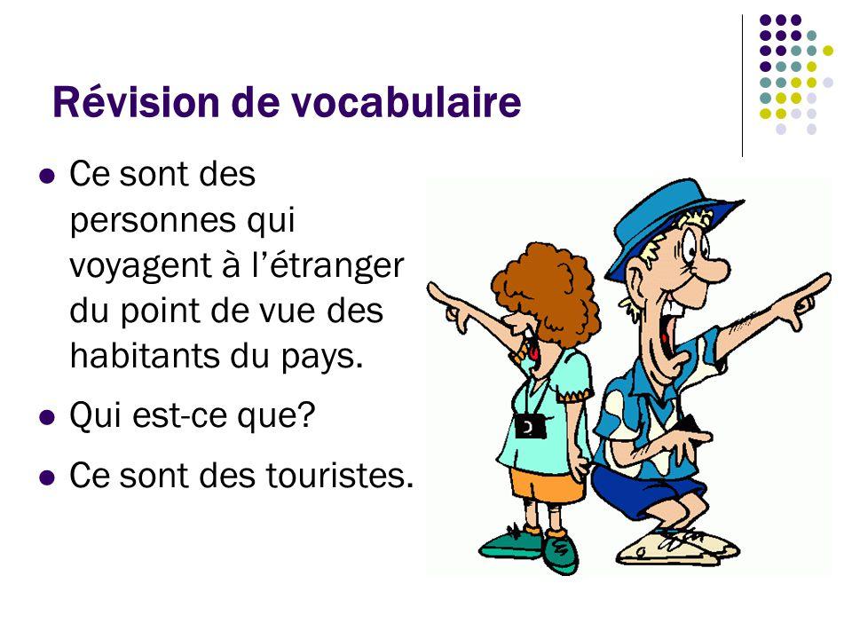 Révision de vocabulaire C'est où vous allez pendant vos vacances quand vous avez besoin de changer vos dollars en euros.