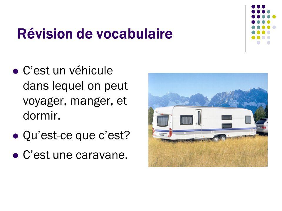 Révision de vocabulaire Ce sont des personnes qui voyagent à l'étranger du point de vue des habitants du pays.