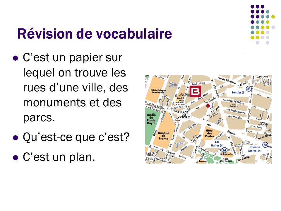 Révision de vocabulaire C'est l'objet dans lequel vous mettez vos vêtements quand vous voyagez.