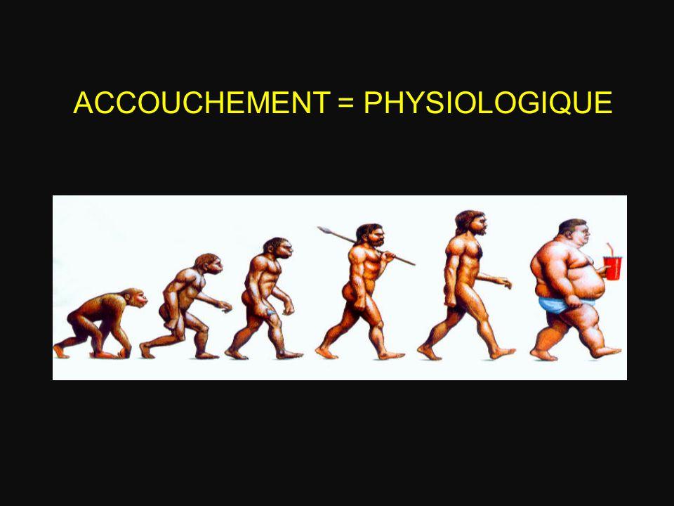 ACCOUCHEMENT = PHYSIOLOGIQUE