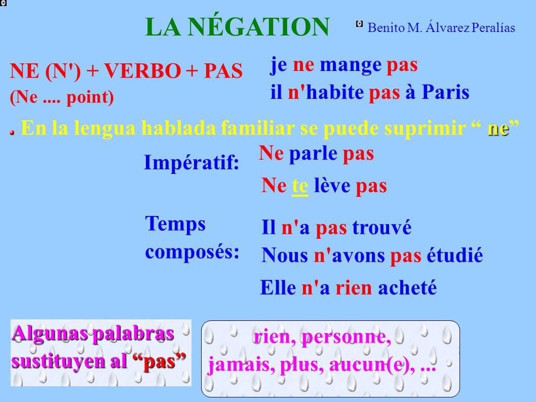 LA NÉGATION NE (N ) + VERBO + PAS (Ne....