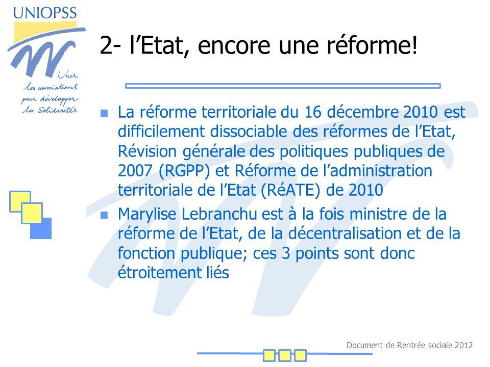 Document de Rentrée sociale 2012 2- l'Etat, encore une réforme.
