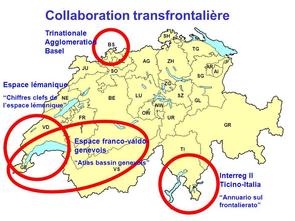 """GE NE FR BE JU LU TI GR VS UR AG TG SG AR AI SZ GL SH ZG SO BL BS ZH VD OW NW Collaboration transfrontalière Interreg II Ticino-Italia """"Annuario sul f"""