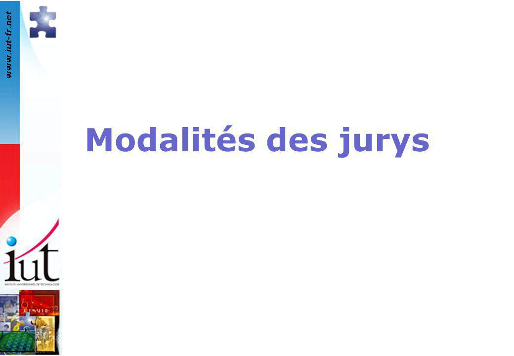 www.iut-fr.net Modalités des jurys