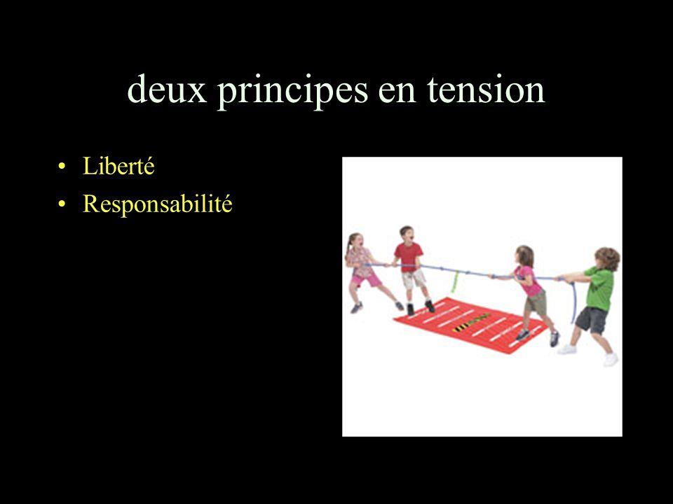 deux principes en tension Liberté Responsabilité