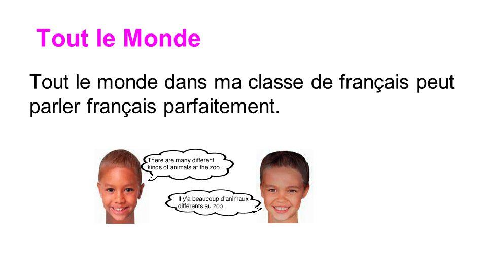 Ne Personne... ou personne ne Personne ne peut parler parfaitement français dans ma classe.