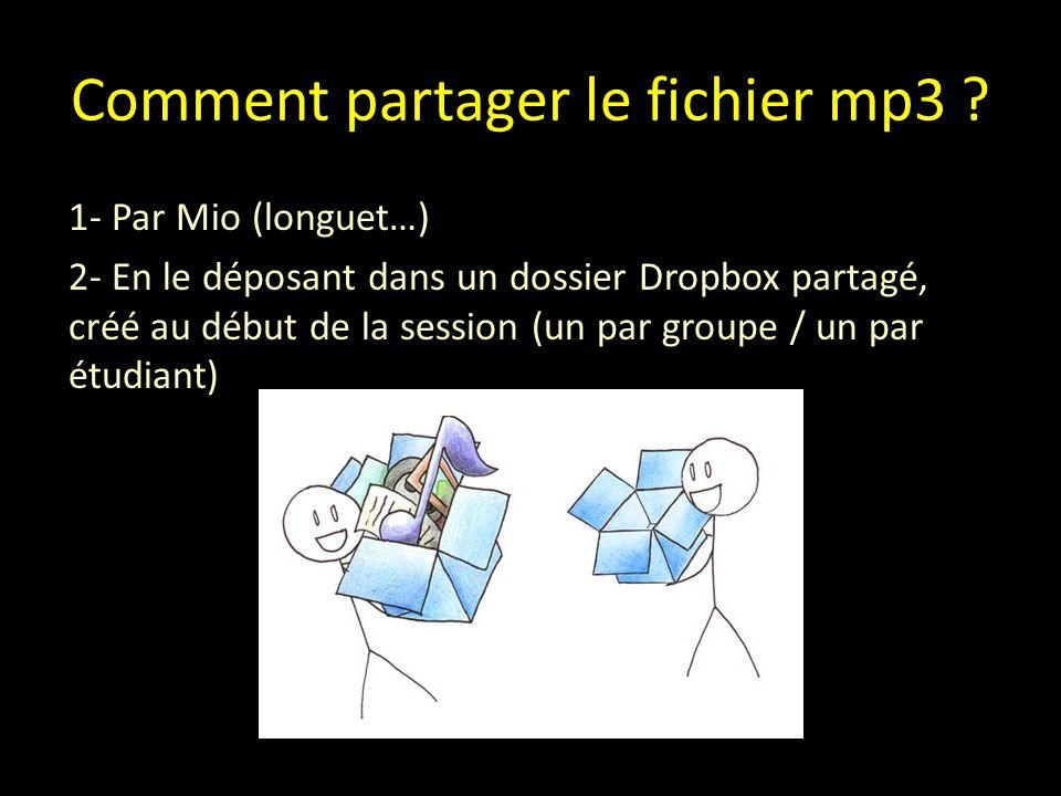 Comment partager le fichier mp3 .
