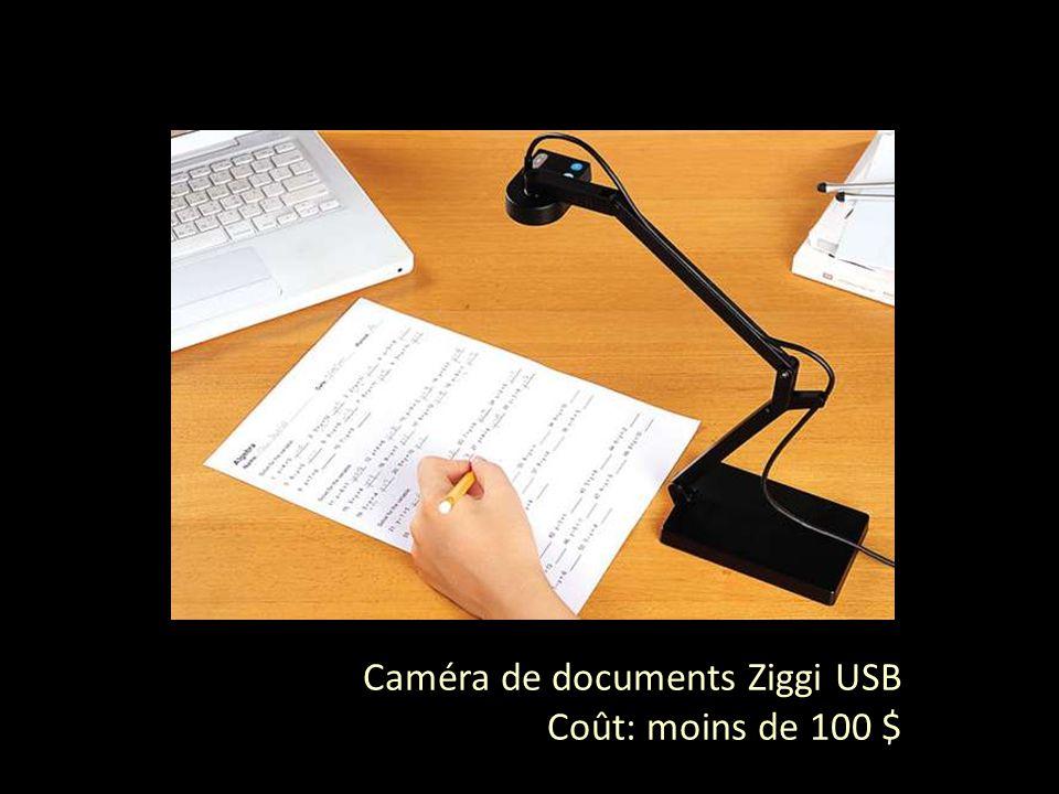 Caméra de documents Ziggi USB Coût: moins de 100 $