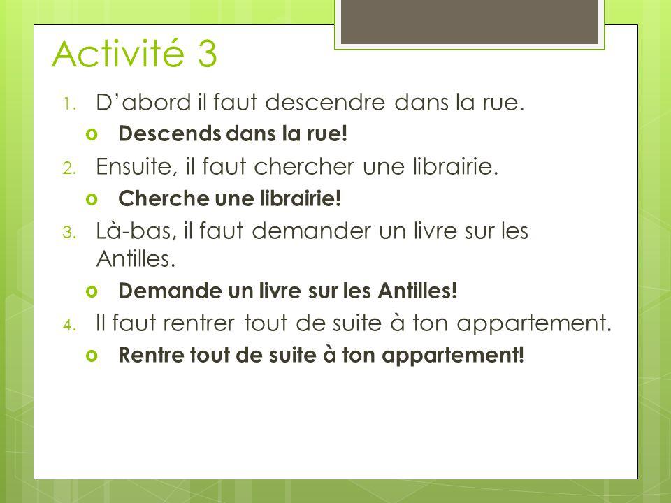 Activité 3 5.Question  Lis le livre. 6. Question  Choisis ton itinéraire.