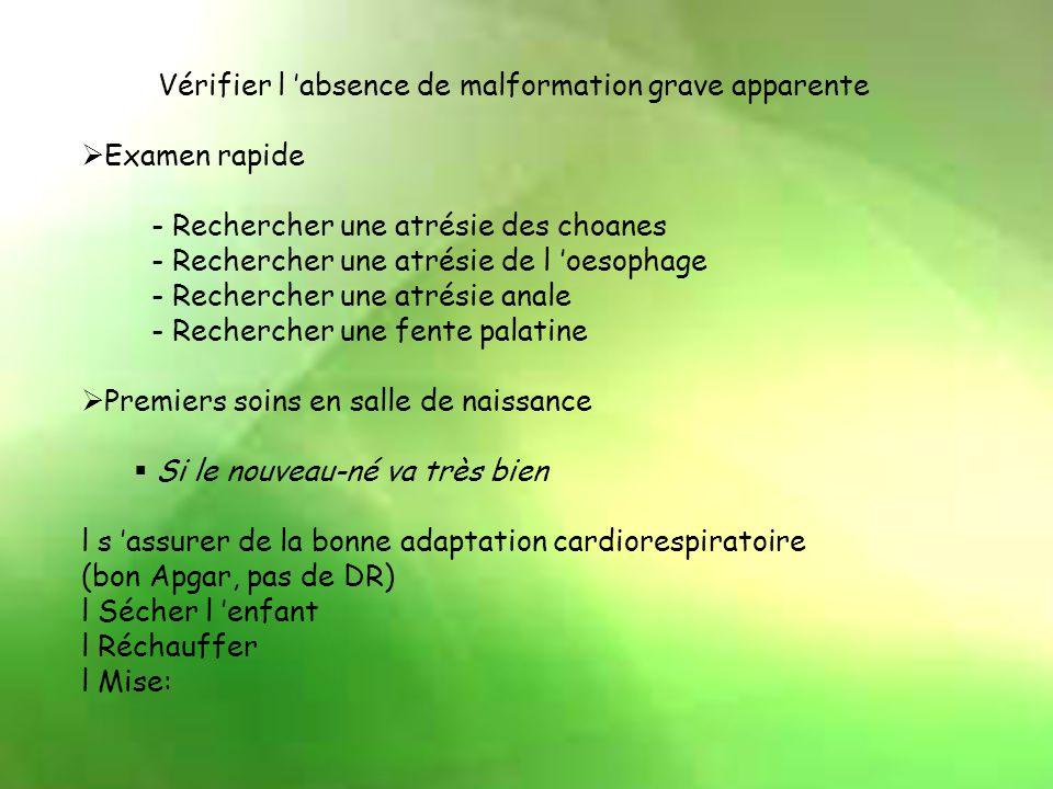 3) Score de Silverman Critère Cotation 012 Balancement thoraco-abdominal Respiration synchrone Thorax immobile Respiration paradoxale Tirage AbsentInt
