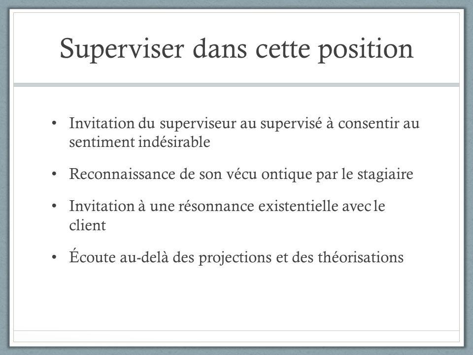 Dialogue fictif de supervision Supervisé A parlant d'une cliente Je n'arrive pas à placer un mot.