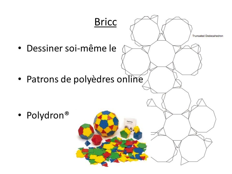 Bricolage Dessiner soi-même les patrons Patrons de polyèdres online Polydron®