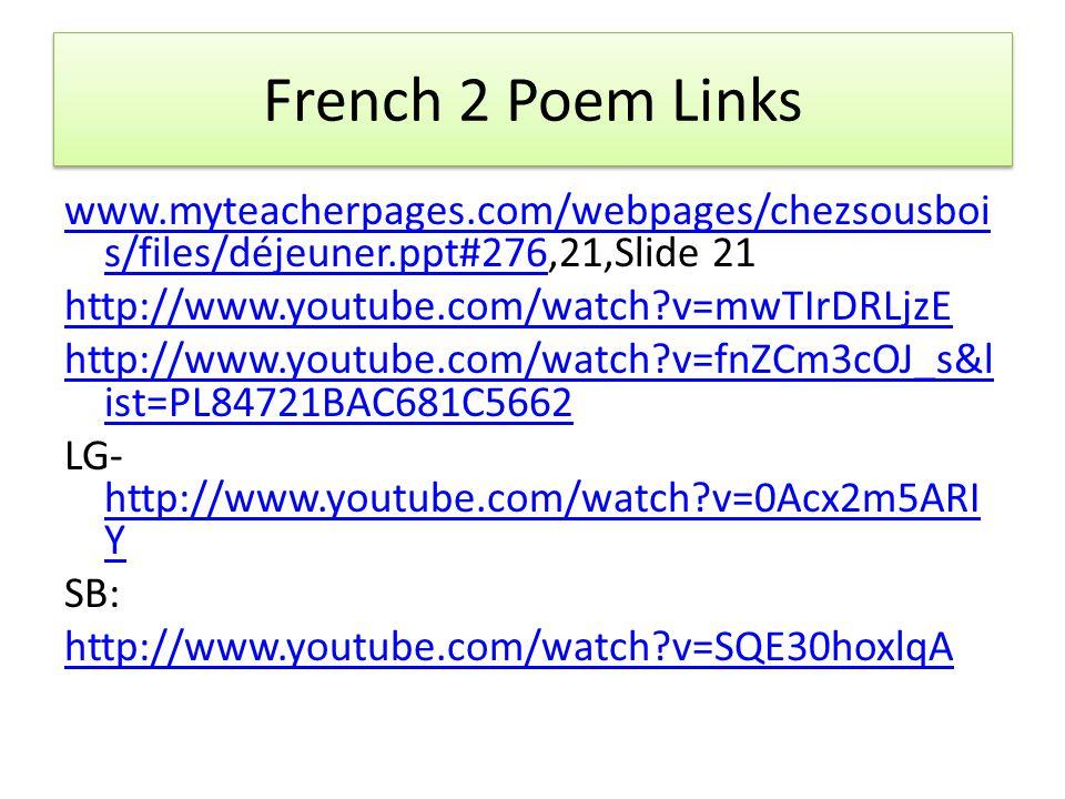 F 3 Les impressionistes: http://www.youtube.com/watch?v=9RHGbWB gDvI http://www.youtube.com/watch?v=9RHGbWB gDvI Donnez-moi: W/B pg.
