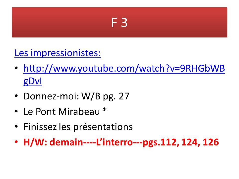 F 1 book test pg.4 Ex. 5 1.François habite EN France.