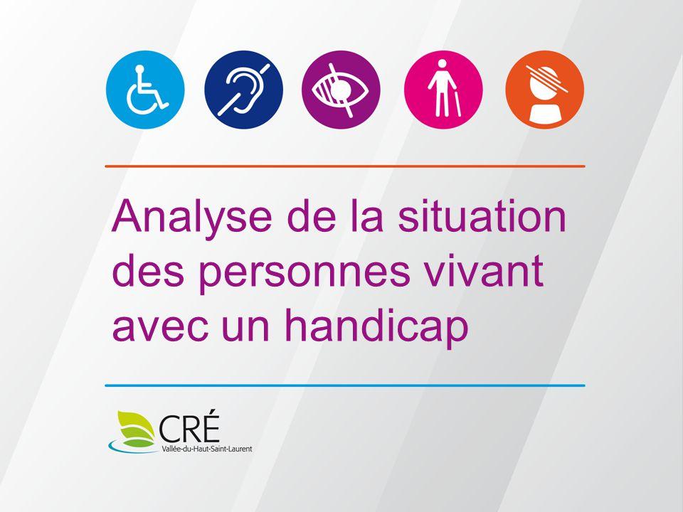 Présentation de l'analyse de la situation des personnes vivant un handicap Méthodologie Échantillon Constats généraux Pistes d'action Période de questions